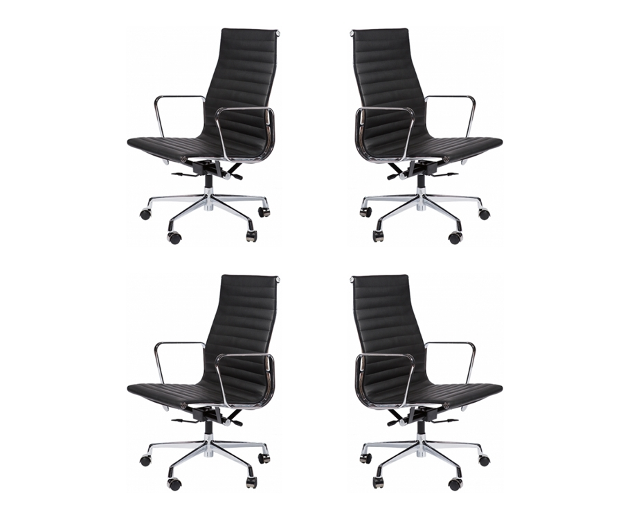 4 x Aluminum Group Executive Chair