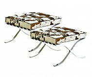 2 x Barcelona Stool in Pony brown/white/black
