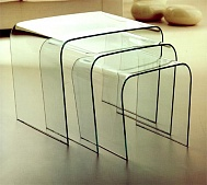 Triora Table bended Glass